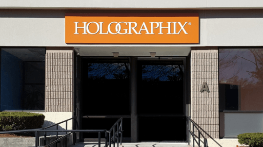 Outside of building Holographix