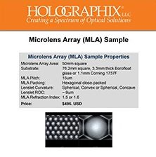 Microlens Array Sample