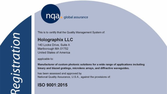 iso 9000:2015 certified